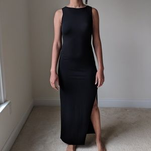 Forever 21Black Maxi Dress with Back Detail